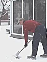 hip hinge snow shovel